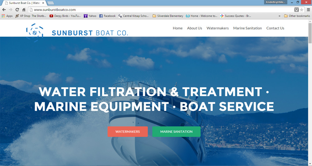 Sunburst Boat Co Website
