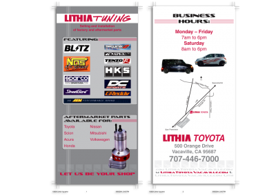 Lithia Toyota Double-sided Rack Card