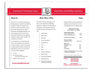 Sound Home and Building Inspections pg2