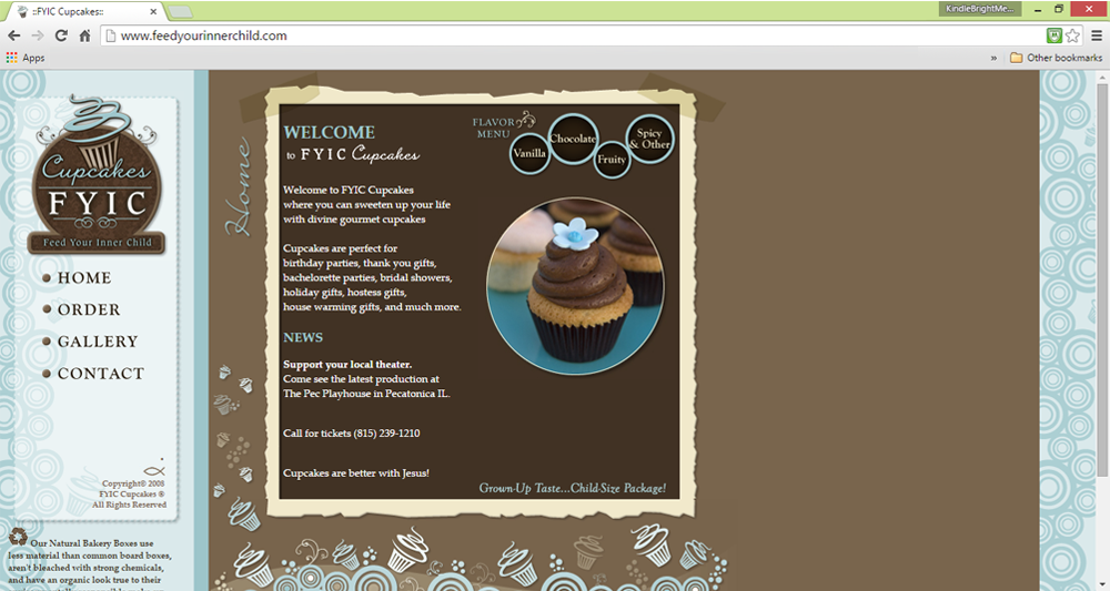 FYIC Cupcakes Webdesign